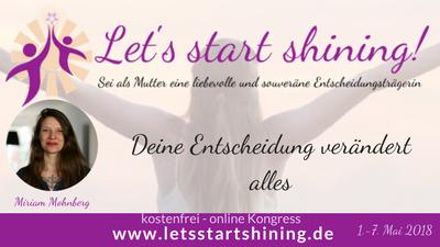 Let´s start shining Online Kongress