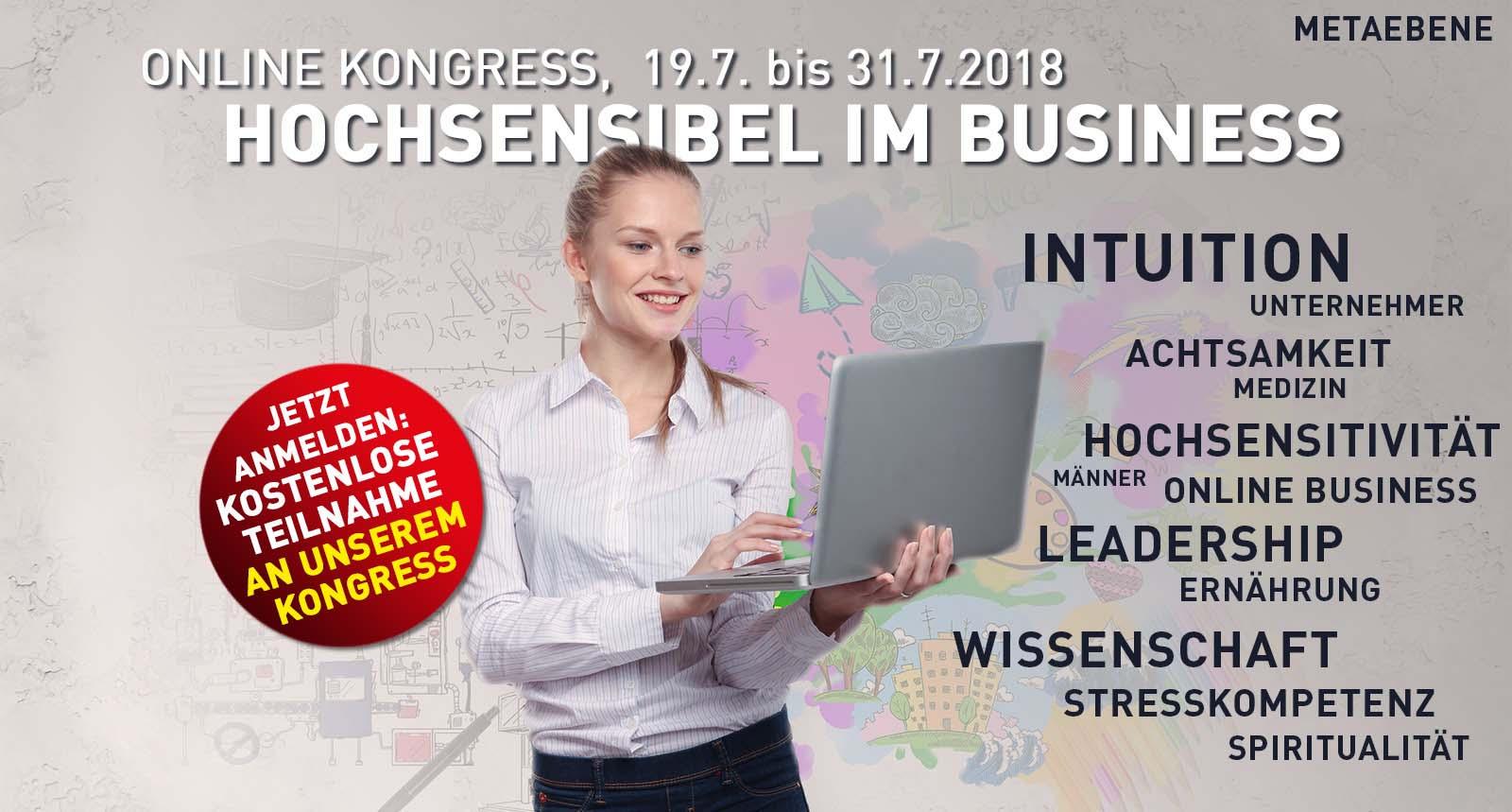 Hochsensibel im Business Online Kongress 2018