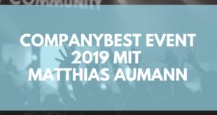 Companybest Event 2019 mit Matthias Aumann