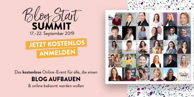 Blog Start summit 2019 Online Kongress Blog starten