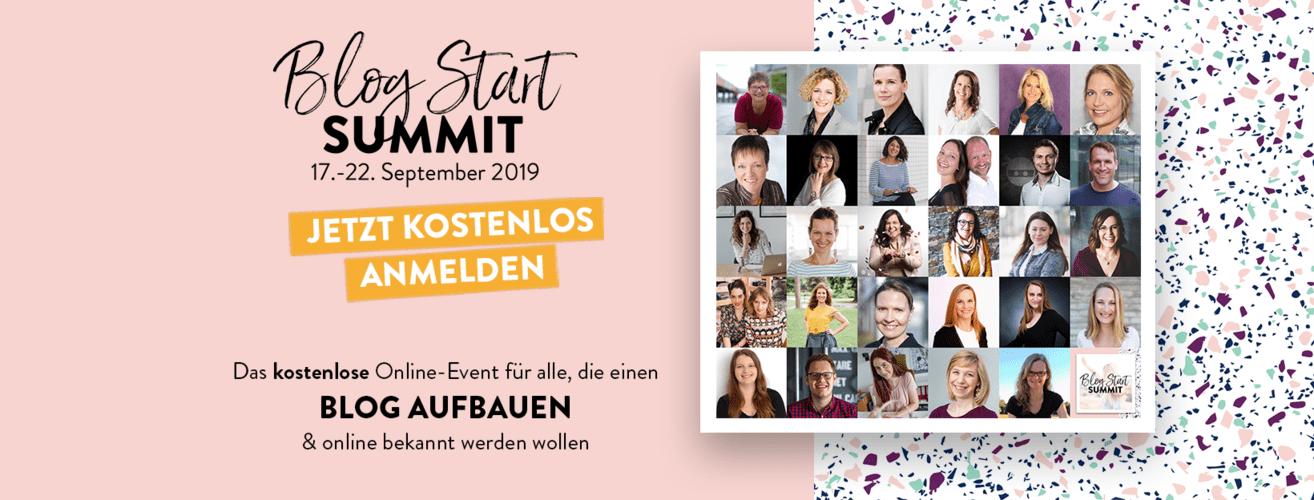 Blog Start summit 2019 Online Kongress Blog starten