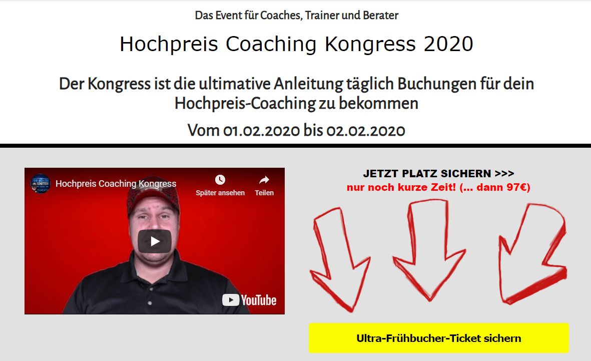 hochpreis-coaching-kongress 2020 Michael