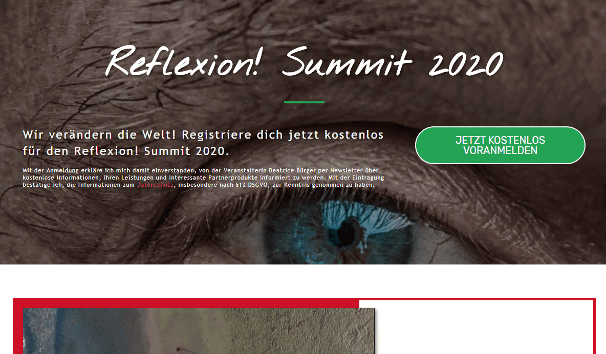 Reflexion Summit 2020 von Beatrice Bürger