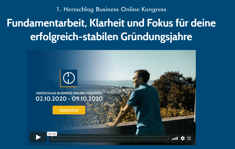 1. Herzschlag Business Online-Kongress