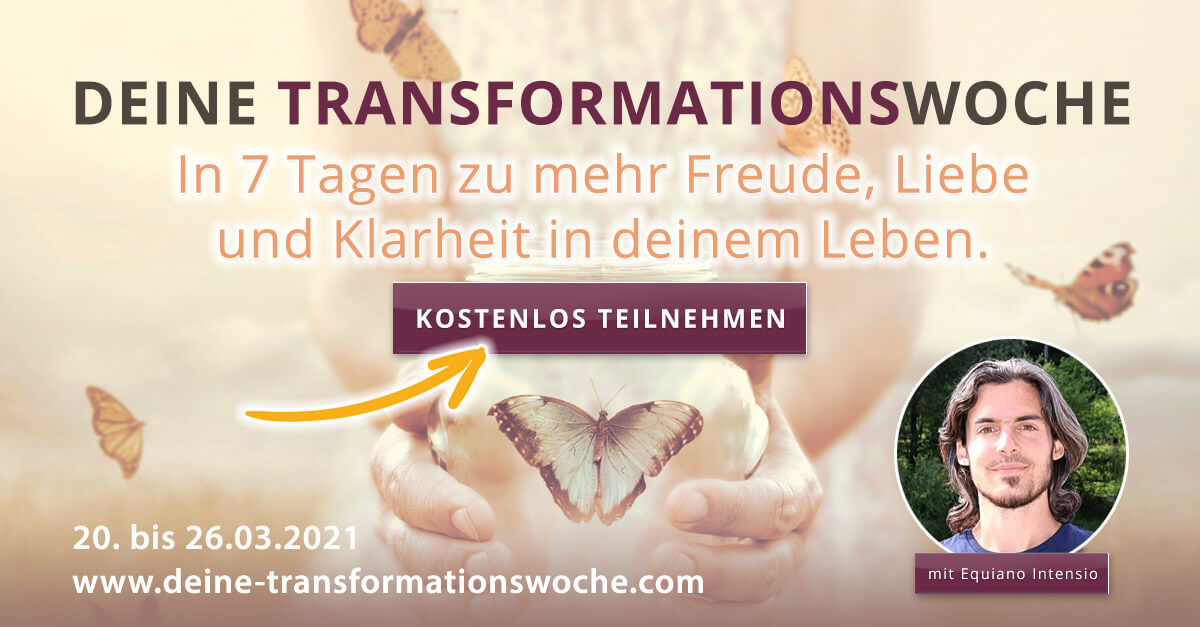 Transformationswoche Equiano Intensio 2021 Online-Kongress-Retreat