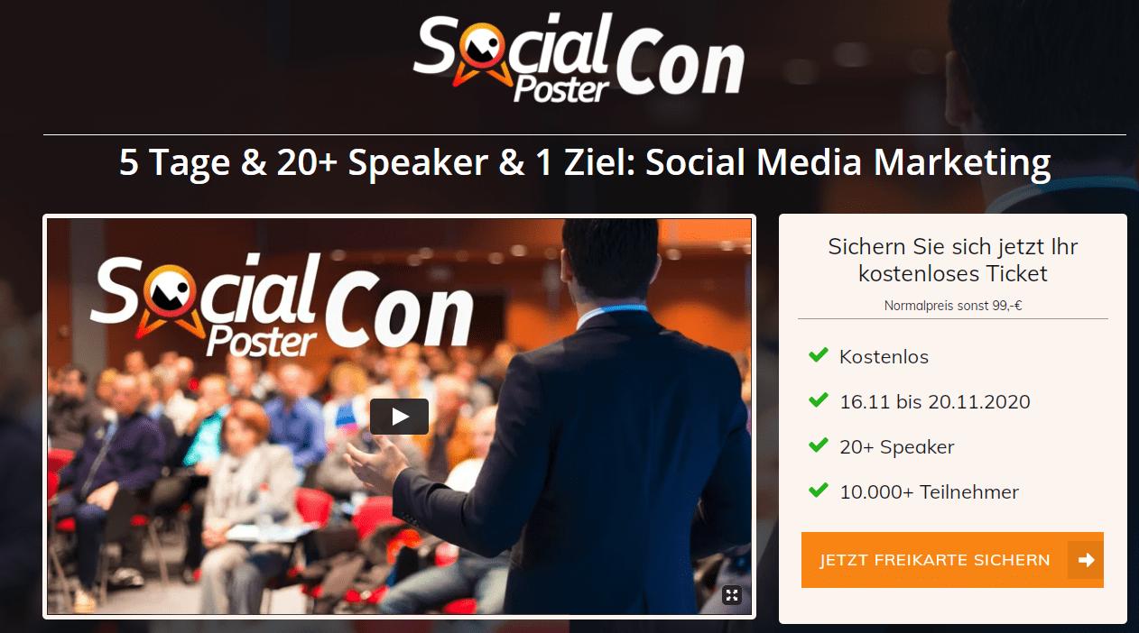 Social Poster Con Online Konferenz