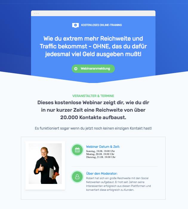 social poster con Webinar