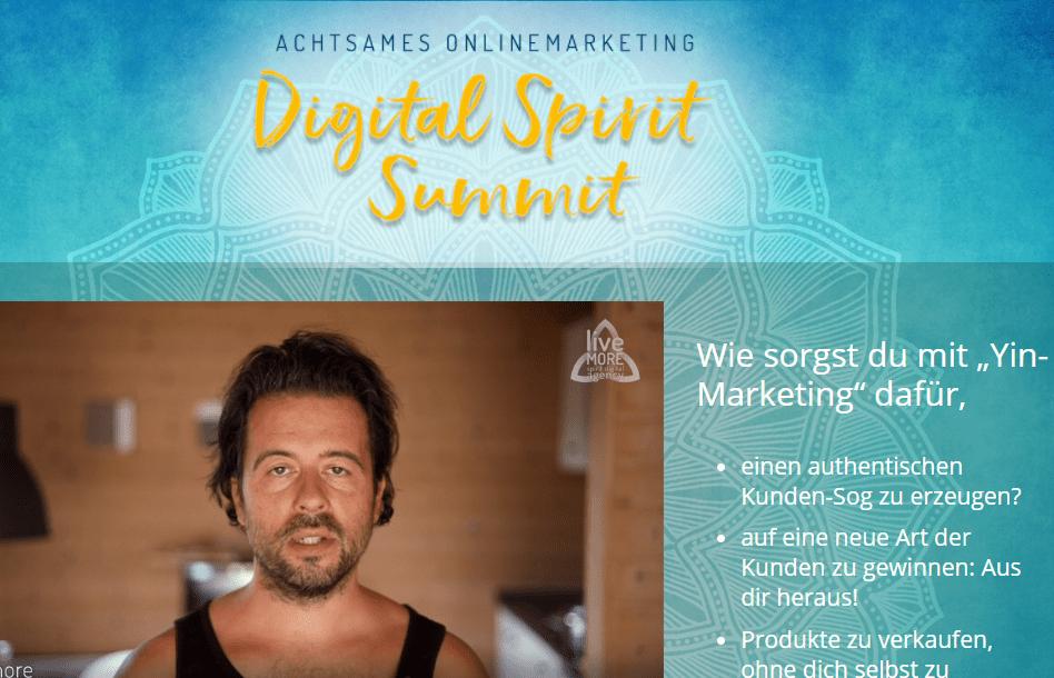 Achtsames Onlinemarketing Digital Spirit Summit