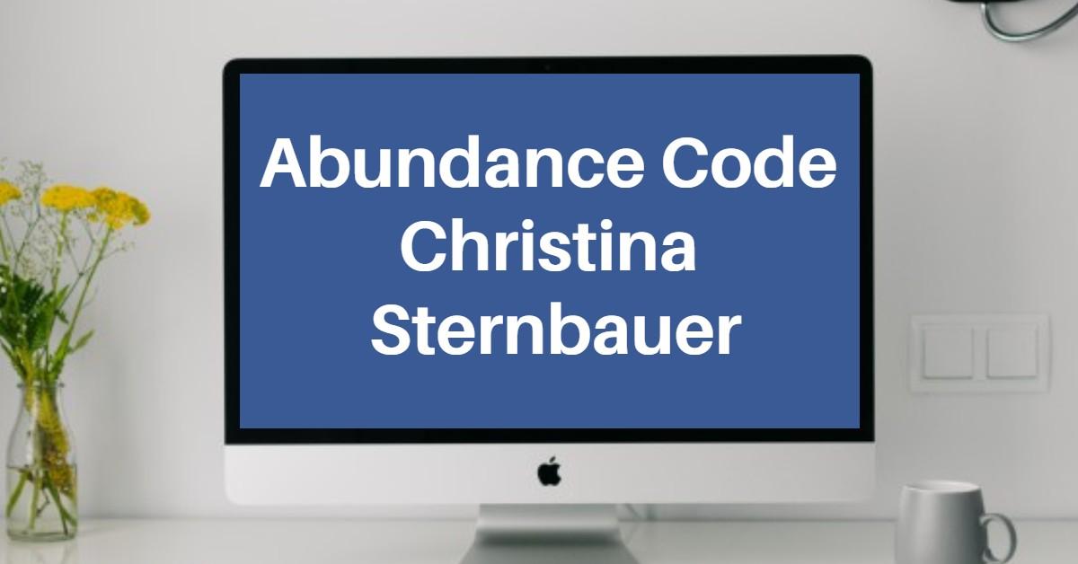 Abundance Code 2021 mit Dr. Christina Sternbauer