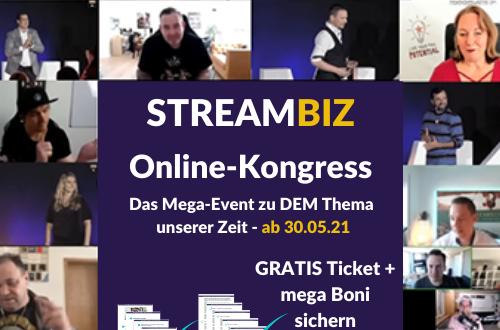 StreamBiz streaming Online-Kongress