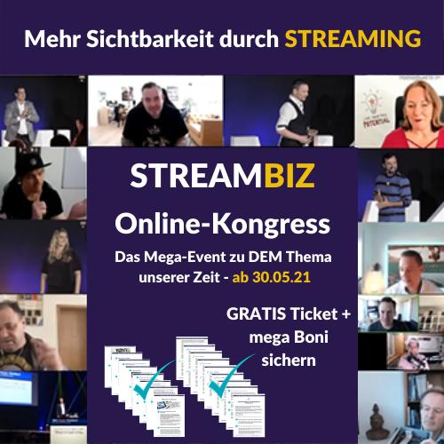 StreamBiz Streaming 2021 Online-Kongress