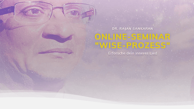 Wise-Prozess Online-Seminar mit Dr. Rajan Sankaran