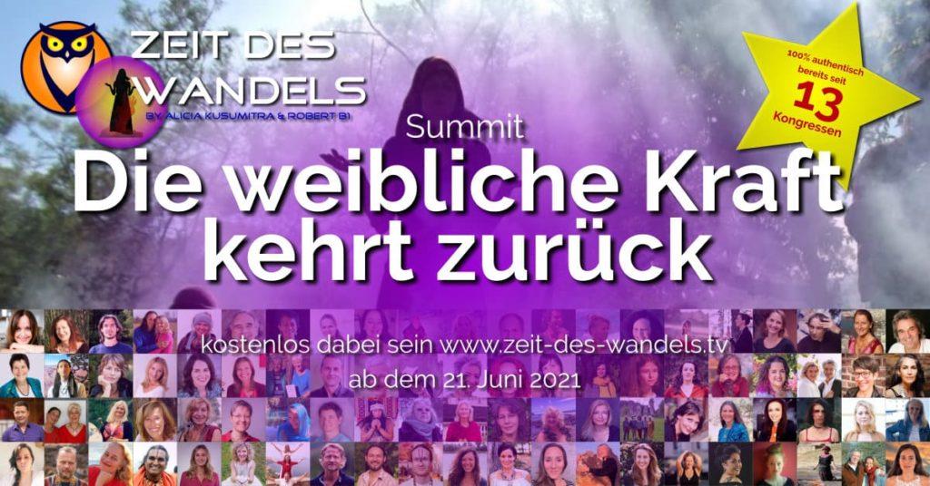 weibliche kraft kehrt zuürck online-summit by zeit des wandels