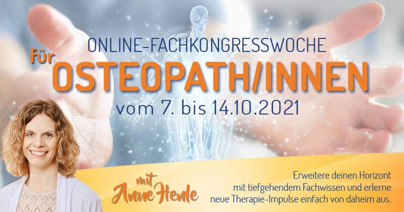 Online Fachkongresswoche für Osteopathen